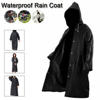 Unisex Waterproof Poncho Hooded RainCoat Army Rain Jacket Cover Protection NEW