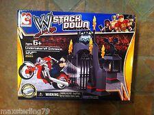 "C3 WWE Stack Down UNDERTAKER'S ENTRANCE Playset Minimates Mega Blocks 2"" figure"