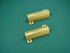2 x 1200 Ohm 50w Non-Inductive Power resistors - > 300b TUBE AMP AMPLIFICATORE Tubi