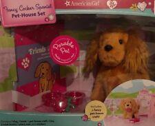 American Girl Posable Pet Fancy Cocker Spaniel Pet-house Set