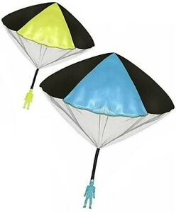 Toys+ 2 Pack Tangle Free Throwing Parachute Men with Large Parachutes!