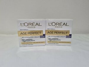 L'Oreal Paris Age Perfect Re-Hydrating Cream 2 x Night Creams NEW UK SELLER