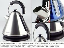 1.7L Stainless 304 Cordless Kettle water filter viewer boil dry cut off Italy de