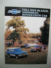 Chevrolet Suburban Blazer brochure Prospekt English text 20 pages 1988 Canada