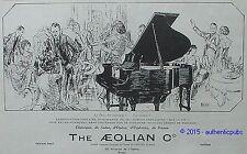 PUBLICITE THE AEOLIAN DUO ART PIANO ART DECO SIGNE POUCHER DE 1925 FRENCH AD PUB