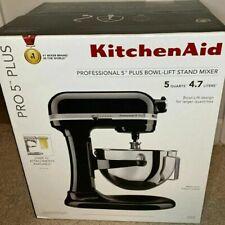 New Sealed KitchenAid Pro 5 Plus Series 5-Quart KV25G0XOB Stand Mixer Onyx Black