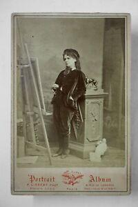 Cabinet Photo Célestine Galli-Marié 1875, opera singer, by A. Liebert, Paris