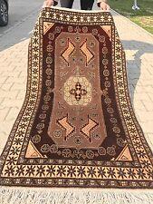 Vintage 1960s Turkish  Wool Pile Dowry Rug 3x5ft Sivas Provice  Turkey