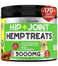 FurroLandia Hip & Joint Supplement for Dogs - 170 Soft Chews - Made in USA