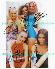 THE SPICE GIRLS SIGNED AUTOGRAPH 8x10 RP PHOTO ALL 5 EMMA VICTORIA MELANIE GERI