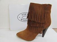 Steve Madden Size 7 Brown Leather Ankle Boots New Womens Shoes