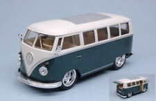 Volkswagen VW T1 Bus 1962 Hot Rider Green W/ White Roof 1:24 Model 22095GN WELLY