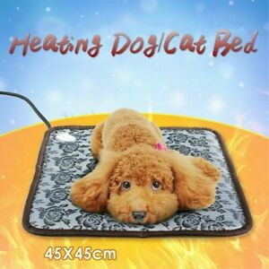 Pet Electric Heated Mat Heating Pad Dog Cat Warm Blanket Winter Thermostat