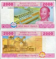 CENTRAL AFRICAN STATES GUINEA 2000 2,000 FRANC 2002 P 508 F c NEW SIGN UNC