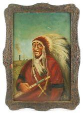 """Prisoner Of Peace"" Folk Art Painting And Frame"