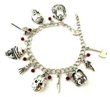 Classic Horror Movies Themed Assorted Charms Metal Charm BRACELET With Giftbox