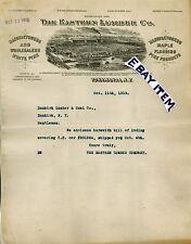 1919 Letterhead TONAWANDA New York EASTERN LUMBER CO Hornby Weyerhaeuser SchlenK