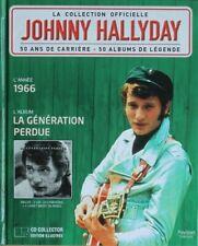 Johnny Hallyday - La Collection Officielle 1966 La Génération Perdue - Livre CD