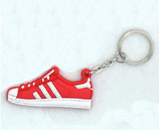 Basketball Sneaker Shoe Keychain Keyring Gift NEW Red & White NEW
