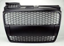 Matte Black Mesh Front Hood Bumper Grill Fits Audi A4 06-08 B7