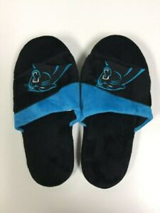 Carolina Panthers Mens Colorblock Slide Slippers
