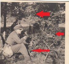 """3147, Foto Georg Reiter Nachlaß """" Polen 1939 schwere MG Stellung im Wald """" !"""