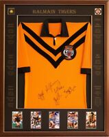 Blazed In Glory - Balmain 5 Legends - NRL Signed & Framed Jersey