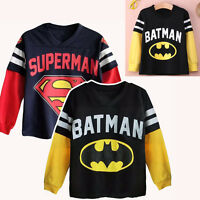 ROYAUME-UNI 1-7 ans Batman Superman Enfants Garçons Cartoon Pull Sweat à capuche