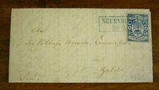 Oldenburg, Nr. 12 a auf Luxusbrief aus Neuenburg, Fotoattest