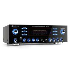 5 CHANNEL HOME CINEMA AMPLIFIER HIFI STEREO KARAOKE PARTY AMP USB 2 x MIC JACKS
