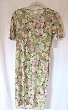 LuLaRoe Julia Dress Mid Sleeve Green Pink Floral Print Size  S #8283