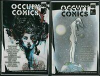 OCCUPY COMICS #1 #2  Occupy Movement Political Black Mask    NM   F3.86