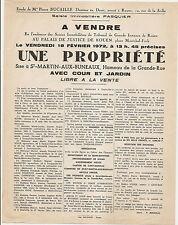 SAINT MARTIN AUX BUNEAUX ROUEN A VENDRE PROPRIETE HAMEAU DE LA GRANDE RUE 1972