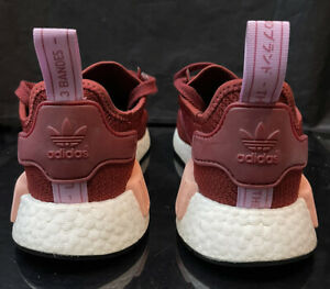 Adidas boost Sz 8 wmns or 7 mens woven Nmd Pk 1.0 Red Maroon lot og