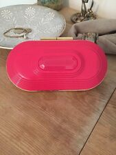 Jimmy Choo For H&M Pink Hard Plastic Shell Clutch Bag
