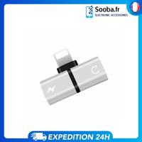 IPhone 7 8 Dual 2in1 X Iluminación para Auriculares Audio Plus Y Cargador Adapta