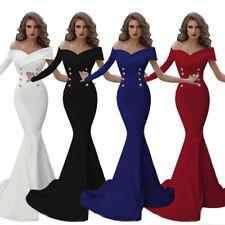 2021 Damen asymmetrisch Mermaid Abendkleid Ballkleid schulterfrei Kleid G4225