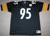 VINTAGE CHAMPION NFL PITTSBURGH STEELERS MEN'S JERSEY Size 48/XL #95 GREG LLOYD