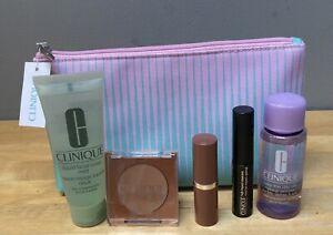 Clinique Bonus Time Gift Set, 5 Items And Make Up Bag - Brand New