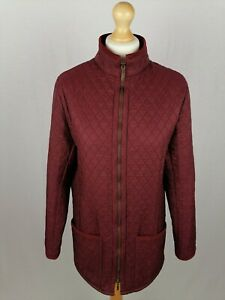 Womens Barbour Polarquilt Long Sleeve Jacket (L752) UK Size 14 Red Polyamide