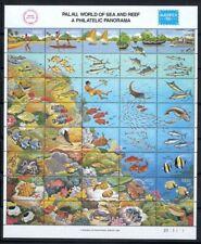 Palau 1986 Mi. 106-145 Foglio 100% Nuovo ** Mare, pesce, natura