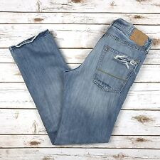 Abercrombie & Fitch Remsen Low Rise Slim Straight Jeans Mens Sz 32x32 Destroyed