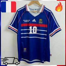 MAILLOT RETRO FOOT FRANCE 1998 N°10 ZIDANE Football  coupe du monde