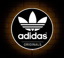 ADIDAS ORIGINALS TRAINERS LOGO BADGE SHOP SIGN LED LIGHT BOX