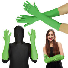 Green Lycra Stretch Glove Elbow Opera Superhero Costume Halloween Party XS-XL US