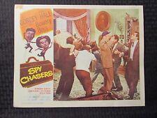 "1955 SPY CHASERS Original 14x11"" Lobby Card VG- 3.5 Bowery Boys Leo Gorcey"