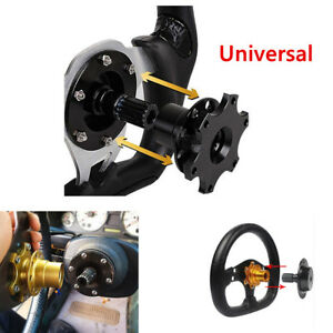 Universal Racing Car Quick Release Snap Off Steering Wheel Hub Adapter Accessory