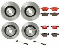 Brembo Front Rear Brake Kit Disc Rotors Low-Met Pads Sensors for W219 CLS63 AMG