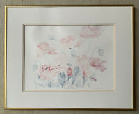 """LYN SNOW LTD ED Lithograph of Watercolor """"Oriental Poppy I"""" Hand Signed  Floral"""