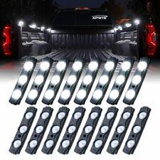 Xprite 16x White LED Light Strips Pod Trucks Tractor Bed Side Marker Lighting